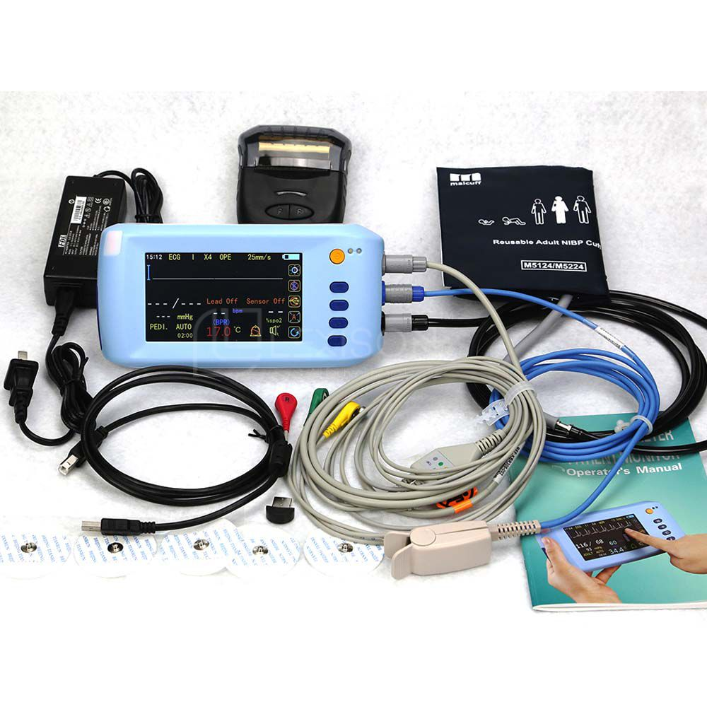 PPM-PPM-J900 Palmtop Patient Monitor Palmtop Touch Screen Muti-parameters Patient Monitor(with Bluetooth Function)